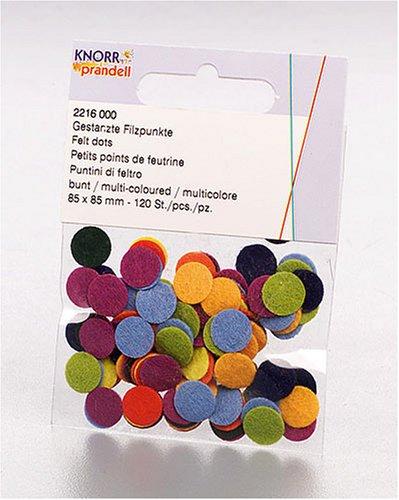 Imagen principal de Gütermann / KnorrPrandell 2216000  -  Lunares de fieltro de varios colores  (120 unidades) [Importado de Alemania]
