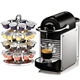 Nespresso Pixie D60 Electric Aluminum Espresso Machine Plus Free Coffee Caro