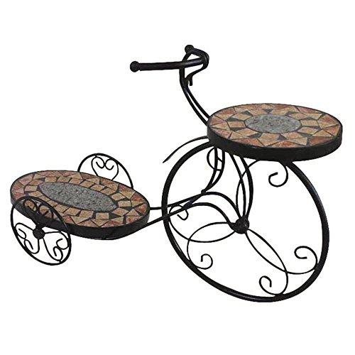 Blumenständer Fahrrad Prato Metall, Mosaik, schwarz