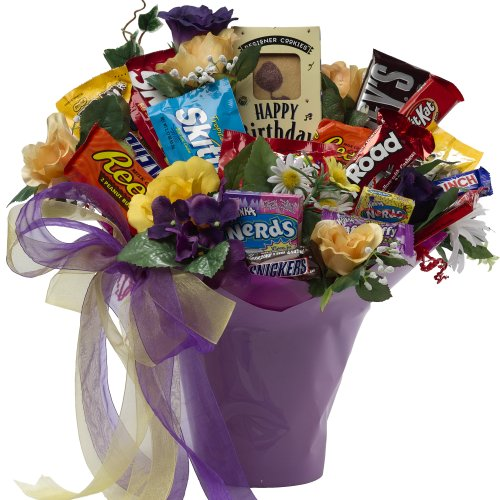 Art of Appreciation Gift Basket Happy Birthday Candy Bouquet
