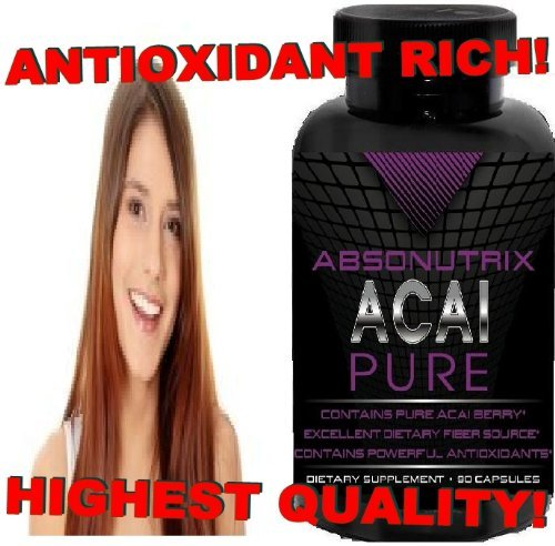 Absonutrix Acai Pure - 90 Capsules Each - 60 Day Money Back Guarantee!!! Highest Quality Guaranteed - The Swiss Army Of Supplements!