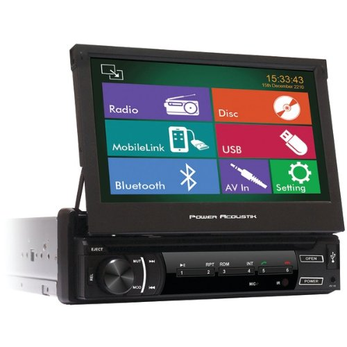 "Power Acoustik Pd_720Hb 7"" Single_Din In-Dash Motorized Lcd Touchscreen Dvd Receiver With Detachable Face, Mobile Link & Bluetooth(R)"