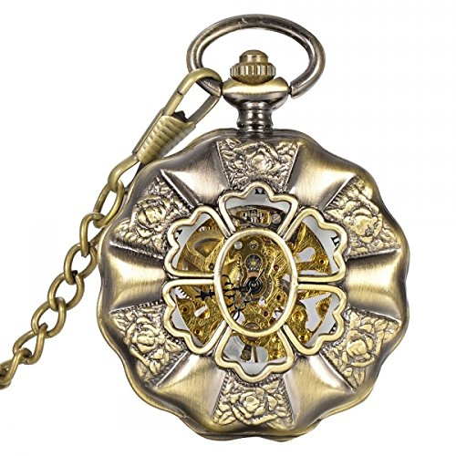 Antique Retro Steampunk Mechanical Pocket Watch Chain Pendant Roman Numeral Classic Watch By Tjspecia