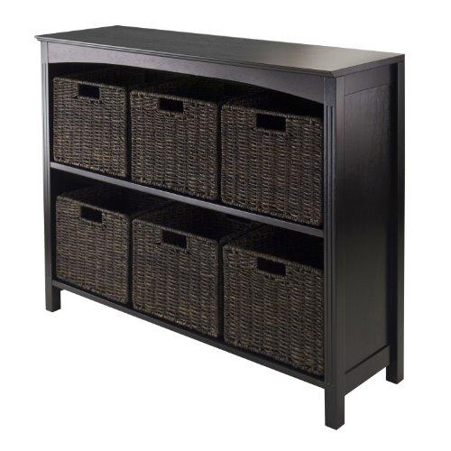 Winsome Terrace 7-Piece Storage Shelf/Bookcase, 37 by 11.8 b