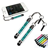 2xNo1accessory new peacock blue crystal shaft stylus pen for Amazon kindle fire HDX 7
