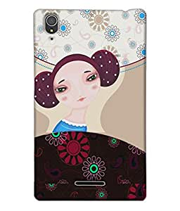 Fuson Nice Girl Back Case Cover for SONY XPERIA T3 - D3923