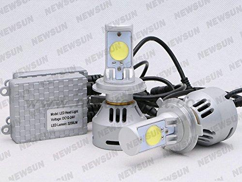 Newsun 2014 New H4 9003 Hb2 Led Car Headlight Auto Led Fog Light Lamp 35W 3200Lm Cree Led Headlight H4 Hi/Low Beam Car Light Bulb