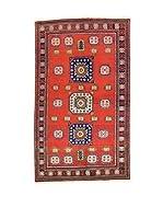 L'Eden del Tappeto Alfombra Shirvan Rojo / Multicolor 130 x 220 cm