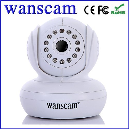 Wanscan Jw0005 Remote Pan/Tilt Rotate Handheld Night Vision Camera Upnp Wifi Support 32G Tf Card Ip Camera White Wan004 front-69048
