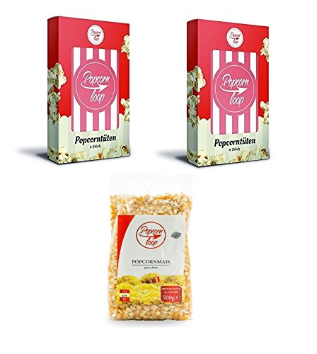 popcornloop zubeh r set bestehend aus 12x original popcornt ten in 2 packungen 6 t ten 1x. Black Bedroom Furniture Sets. Home Design Ideas
