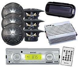 200W EKMRS12 In Dash Marine MP3 USB SD AM FM Radio 6x 4\
