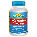 L-Carnitine 1000 mg 120 Tablets by Nova Nutritions
