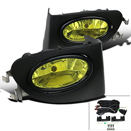 Spec-D Tuning LF-CV023AMOEM-DL For Honda Civic Si Hatchback EP3 Yellow Bumper Diving Fog Lights Pair (2003 Honda Civic Si Ep3 Parts compare prices)