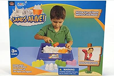 Play Visions Sands Alive! Deluxe Starter Set includes 4 molds and tray EXCLUSIVE KIT, LIMITED EDITION!! by Play Visions