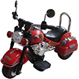 Merske Harley Style 6V Battery Operated Kids Motorcycle, Red
