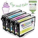 INKUTEN 4 Pack Replacement Edible Ink 252XL (1 BK, 1 C, 1 M, 1 Y) for WF 7620 WF 7610 WF 7110 WF 3620 WF 3630 WF 3640 (Edible Cake Printing)