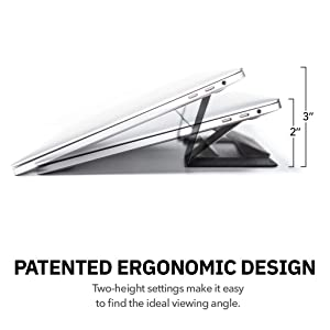 MOFT Laptop Stand, Invisible Lightweight Laptop Computer Stand, Compatible with MacBook, Air, Pro, Tablets and Laptops up to 15.6, Patented,Fine Wind Clear Morning (Color: Fine Wind Clear Morning)