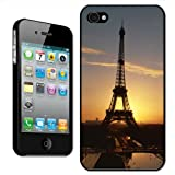 Fancy A Snuggle 'Eiffel Tower Sunset Paris France' Clip On Back Cover Hard Case for Apple iPhone 4/4S