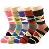 Jiye Womens Merino Ragg Wool Crew Socks