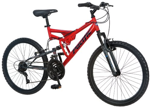 Pacific Boy's Chromium Full Suspension Bicycle (24-Inch)