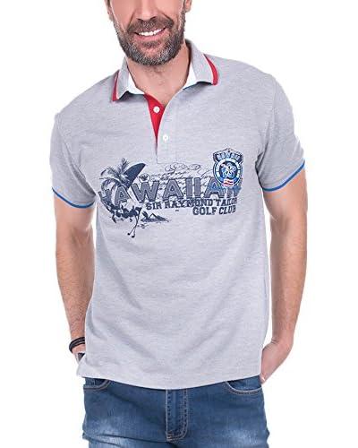 SIR RAYMOND TAILOR Polo Shirt Short Sleeve Square GRIS