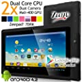 Zeepad® 7DRK Dual Core 4.2 Black Android Tablet 7 Inch, Multi-Touch, Dual Camera, Wi-Fi (May 2014 BLK) by Worry Free Gadgets