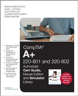 802 Cert Guide, Deluxe Edition and Simulator Bundle: Mark Edward Soper
