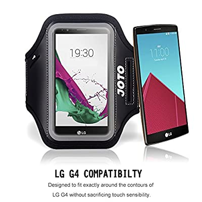 LG G4 Armband, JOTO Sport Armband Case for LG G4, with Key Holder, Credit Card / Money Holder, Sweat Proof, best for Gym, Sports Fitness, Running, Walking, Exercise, Workout from JOTO