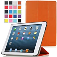 MoKo Ultra Slim Lightweight Smartshell Stand Case For Apple IPad Mini 7.9-Inch Tablet ORANGE (with Smart Cover...