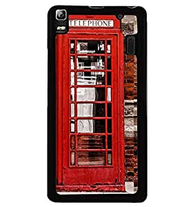 Printvisa Vintage Telephone Booth Pic Back Case Cover for Lenovo K3 Note