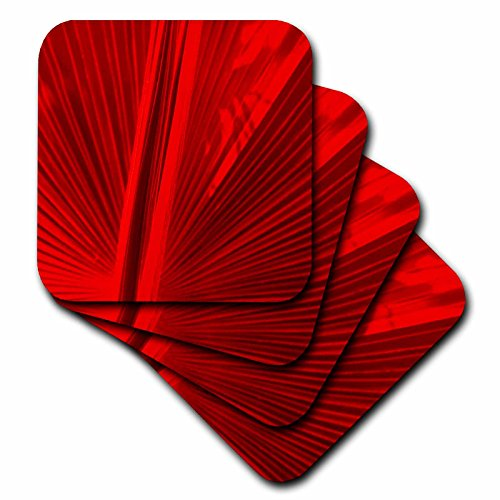 Florene Fan in Red Coaster, Soft, Set of 8 (Red Coasters compare prices)