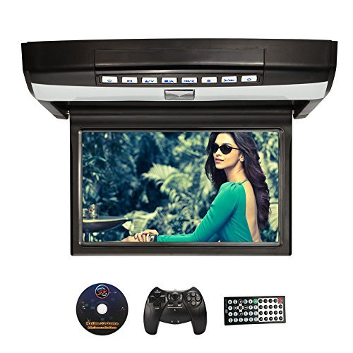 NAVISKAUTO-101-Deckenmonitor-DVD-Player-HD-Auto-Monitor-Multimedia-Roof-Mount-Digital-TFT-LCD-Bildschirm-Mit-Deckenhalterung-Dachinnenbeleuchtung-Game-CD-Wireless-Controller-Fernbedienung-Untersttzt-U