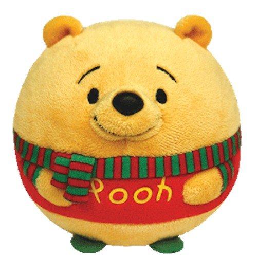 Ty Beanie Ballz Winnie the Pooh - Christmas - 1