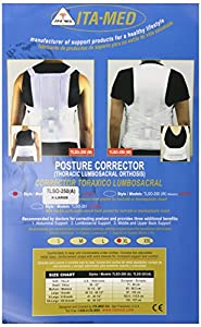ITA-MED  TLSO (Thoracic Lumbo Sacral Orthosis) - Posture Corrector, Medium Support, Adult, Extra Large