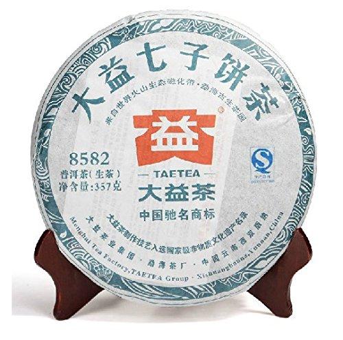 本場中国雲南省産の健康プーアル茶  大益七子餅茶8582   2013年(生茶) 357g