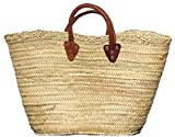 "Moroccan Straw Summer Beach / Shopper / Tote Bag 22""x12""x7"""