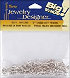 "Coiless Safety Pins-3/4"" Nickel 100/Pkg"