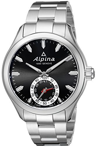 Alpina Men's AL-285BS5AQ6B Horological Smart Analog Display Swiss Quartz Silver Watch
