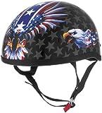 Skid Lid Helmets Original USA Flame Eagle Helmet , Distinct Name: USA Flame Eagle, Gender: Mens/Unisex, Helmet Category: Street, Helmet Type: Half Helmets, Primary Color: Red, Size: Lg 646989