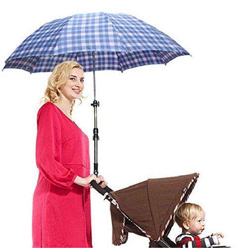 Nützliche Schirmhalter für Fahrrad, Kinderwagen,Rollator, Rollstuhl, Golftrolleys