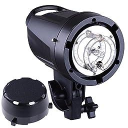 AW Pro Photography 180W Strobe Flash Light 5600K Photo Video Studio Lamp Head Portrait w/ Handle