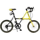 DOPPELGANGER(ドッペルギャンガー) FX06/RTY 20インチ アルミフレーム 折りたたみ自転車 シマノ7段変速 LEDライト/ワイヤーロック標準装備