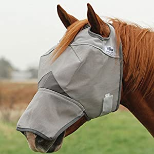 Cashel Crusader Fly Mask with Long Nose - Size: Yearling, Large Pony