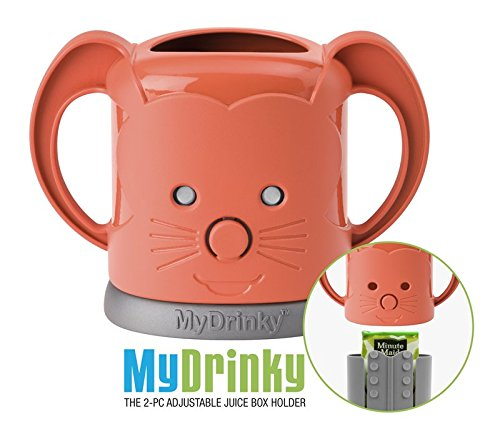 MyDrinky - The Adjustable Juice Box Holder -Tangerine