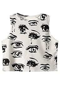 Cfanny Women's Cartoon Eyes and Tears…