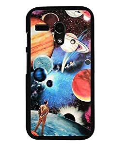 Aart Designer Luxurious Back Covers for Moto G Turbo Edition + Lazy 360 Foldable Mobile Stand for Mobiles by Aart Store.
