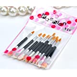 BDS - 10 Pcs Make Up Brushes Set (Double-headed Eye Shadow Brush And Lip Brush)