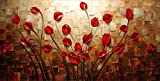 Budding Flowers 100% Hand-painted Modern Canvas Wall Art Floral Oil Paintings on Canvas for Home Decor 20 by 40 inches