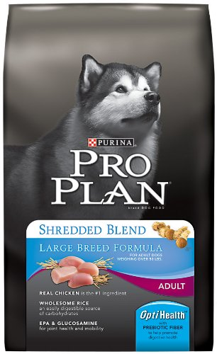 Purina Pro Plan Dry Adult Dog Food, Shredded Blend Large Breed Formula, 34-Pound Bag