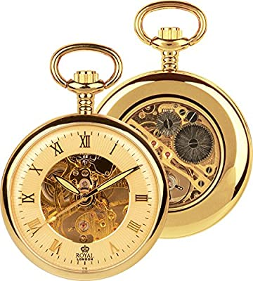 Royal London Pocket Watch 90002-03 Gold Plated Open Face